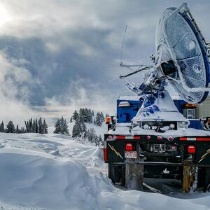 weather radar collecting data on snow